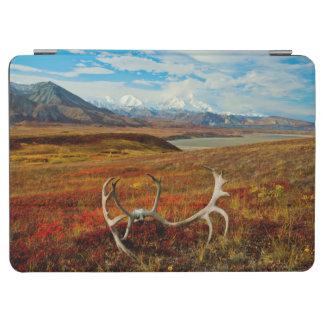 アラスカのツンドラのカリブーの(雄ジカの)枝角 iPad AIR カバー