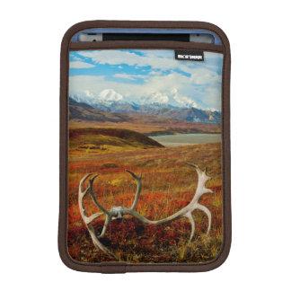 アラスカのツンドラのカリブーの(雄ジカの)枝角 iPad MINIスリーブ
