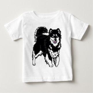 アラスカのハスキーな犬 ベビーTシャツ