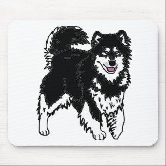 アラスカのハスキーな犬 マウスパッド