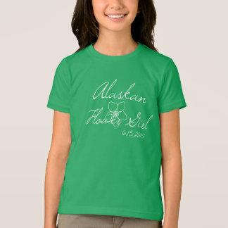 アラスカのフラワー・ガールのティー Tシャツ