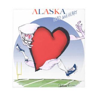 アラスカのヘッドハート、贅沢なfernandes ノートパッド