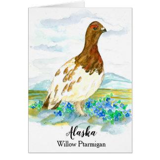 アラスカのヤナギのライチョウのブランクの州鳥 カード