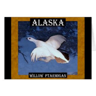 アラスカのヤナギのライチョウ グリーティングカード