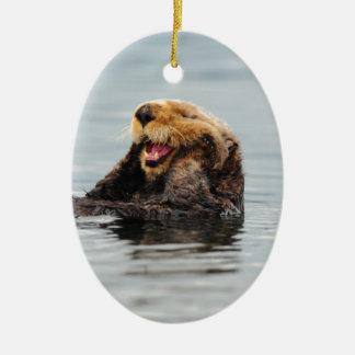 アラスカのラッコ セラミックオーナメント