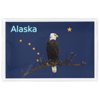 アラスカのワシおよび旗 アクリルトレー