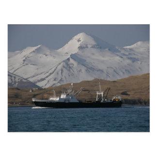アラスカの勝利、F.C.A.の工場トロール船 葉書き