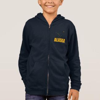アラスカの北斗七星の黄色文字の旗 パーカ