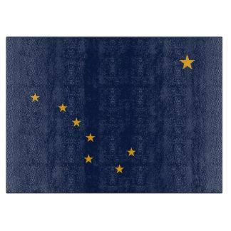 アラスカの国家の旗を持つガラスまな板 カッティングボード