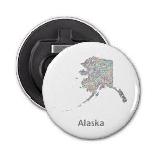 アラスカの地図 栓抜き