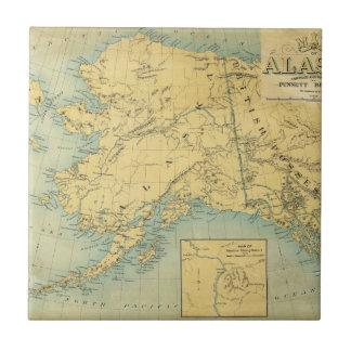 アラスカの地図 正方形タイル小