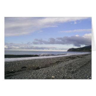 アラスカの天空のビーチ カード