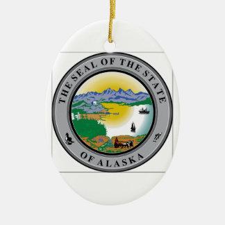 アラスカの州のシール セラミックオーナメント