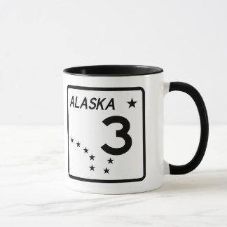 アラスカの州のルート3 マグカップ