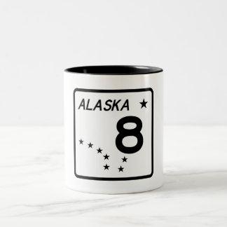 アラスカの州のルート8 ツートーンマグカップ