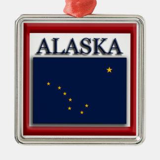 アラスカの州の旗のクリスマスのオーナメント メタルオーナメント