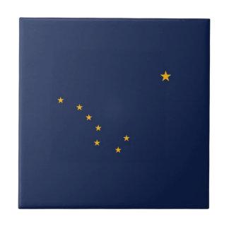 アラスカの州の旗 正方形タイル小