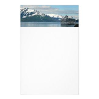 アラスカの巡航の休暇旅行写真撮影 便箋