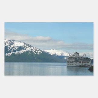 アラスカの巡航の休暇旅行写真撮影 長方形シール