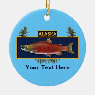 アラスカの戦闘の漁師のバッジ セラミックオーナメント