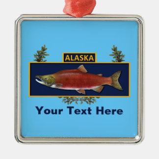 アラスカの戦闘の漁師のバッジ メタルオーナメント