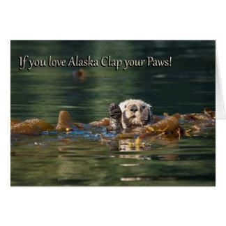 アラスカの拍手をあなたの足愛すれば カード