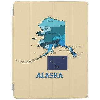 アラスカの旗そして地図 iPadスマートカバー