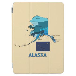 アラスカの旗そして地図 iPad AIR カバー