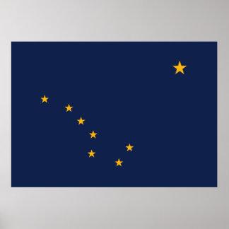 アラスカの旗のプリント ポスター