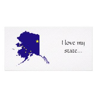 アラスカの旗の地図 カード