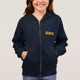 アラスカの旗の黄色文字 スウェットシャツ