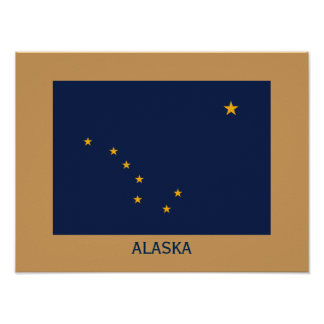 アラスカの旗のFrameableポスター ポスター