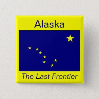 アラスカの旗ボタン 缶バッジ