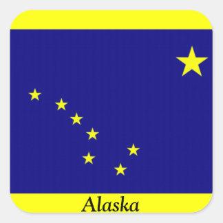 アラスカの旗 スクエアシール