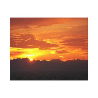 アラスカの日没 キャンバスプリント