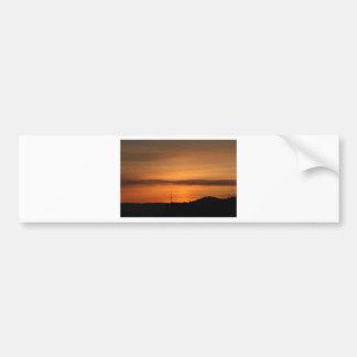 アラスカの日没 バンパーステッカー