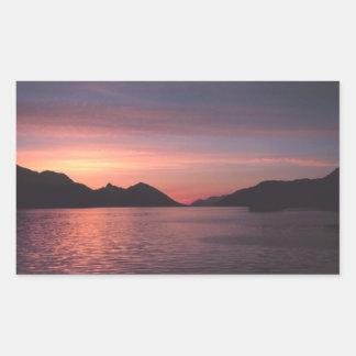 アラスカの日没 長方形シール