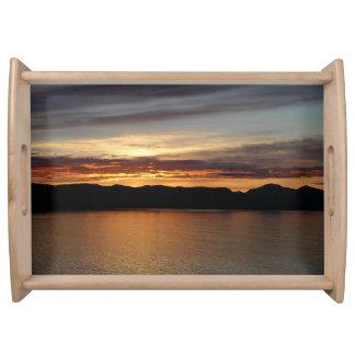 アラスカの日没II美しいアラスカの写真撮影 トレー