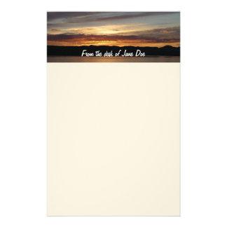 アラスカの日没II美しいアラスカの写真撮影 便箋