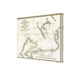 アラスカの本の地図 キャンバスプリント