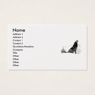 アラスカの材木オオカミの名刺 名刺