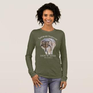 アラスカの材木オオカミ 長袖Tシャツ