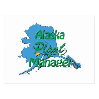 アラスカの植物マネージャー ポストカード