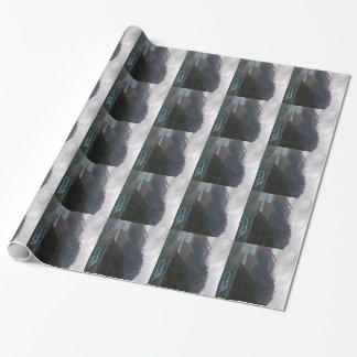 アラスカの氷山の写真が付いている包装紙 ラッピングペーパー