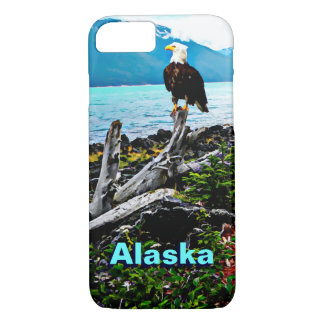 アラスカの海岸の白頭鷲 iPhone 8/7ケース