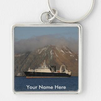 アラスカの海、オランダ港、AKの工場トロール船 キーホルダー