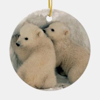 アラスカの白くまカブス セラミックオーナメント