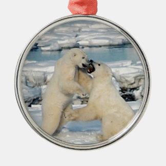 アラスカの白くま メタルオーナメント