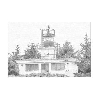 アラスカの監視島ライト キャンバスプリント