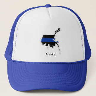 アラスカの薄いブルーライントラック運転手の帽子 キャップ